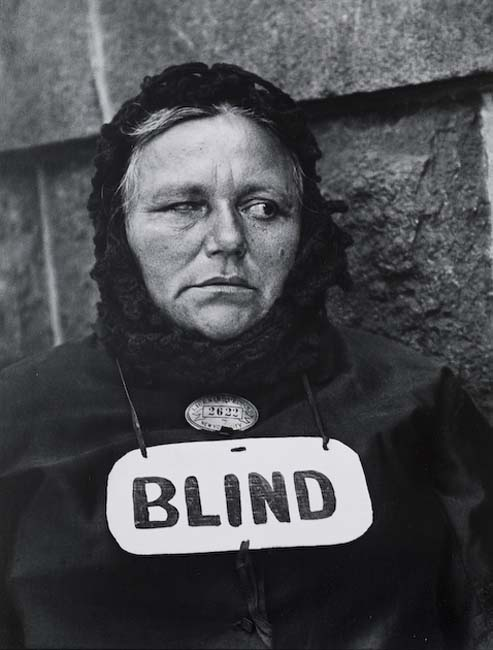 Blind Woman, New York, 1916 by Paul Strand